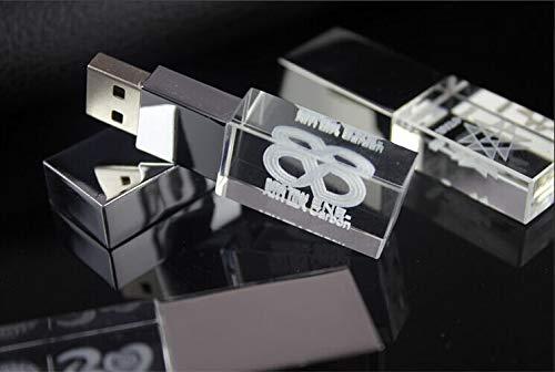 Customized 3D Logo Crystal USB 3.0 Flash Drive Photo Storage Pendrive Paper Box