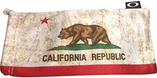 6b40ba01f58 Oakley Microclear Microbag Sunglass Accessories - CA State Flag One Size