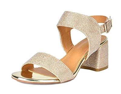DREAM PAIRS Women's Duchess Heel Sandals