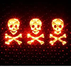 SKULLS AND CROSSBONES - 3rd Third Brake Light Vinyl Decal Mask #1083 | Vinyl Color: Black