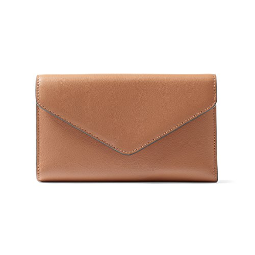 Trinity Checkbook Wallet - Full Grain Leather Leather - Cognac (brown) by Leatherology