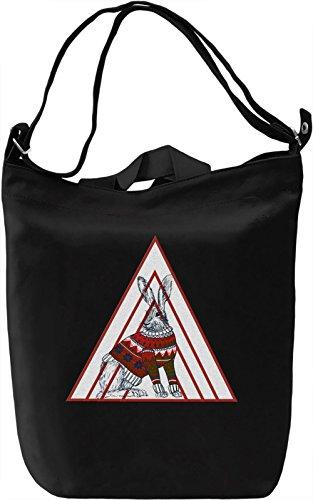 Colourful Bunny Borsa Giornaliera Canvas Canvas Day Bag| 100% Premium Cotton Canvas| DTG Printing|