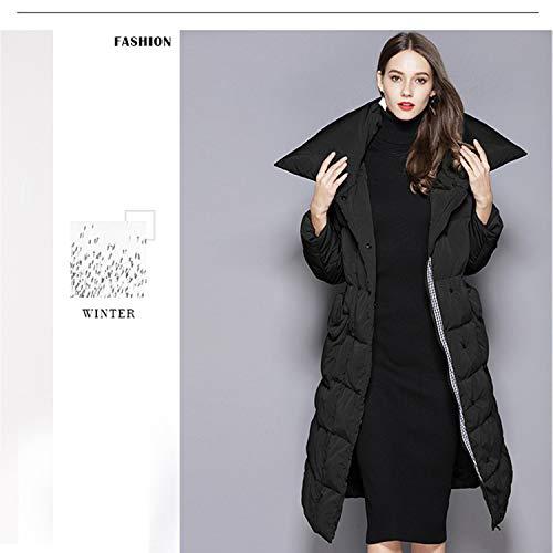 Sezione Donna Donna Da Piumino Dimensioni Yxxhm America Lunga Di Black In Bianco Giacca Europa Grandi Piumino E qnTXwxw4RF