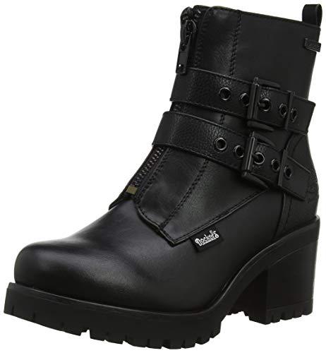 schwarz Noir Gerli Femme 37ce313 Bottes Hautes 100 Dockers By 0HFH7