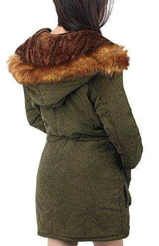Army Maniche Green Ilovesia New Parka Donna Lunghe Cappotto 8PgHgn6