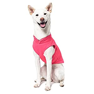 Gooby Every Day Fleece Cold Weather Dog Vest for Small Dogs, Pink, Medium