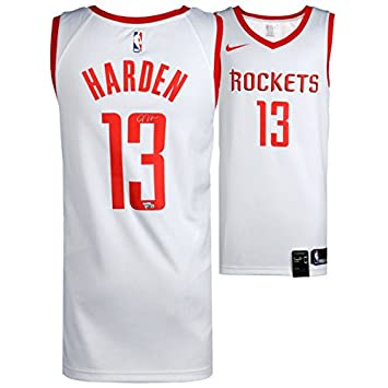 Amazon.com  JAMES HARDEN Houston Rockets Autographed Nike White Swingman  Jersey FANATICS  Sports Collectibles 9cccb146b