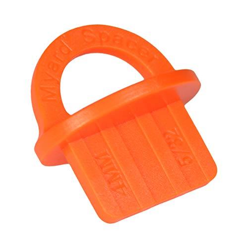 Myard DJS4 5/32 Inches Deck Board Jig Spacer Rings for Pressure Treated, Composite, PVC, Plank, Hardwood Decking Tool (Orange, 20-Pack)