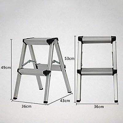 Plegables Aluminio Aleación Escalera,multiusos Antideslizante Escaleras De Mano Portátil Casa Escalera Para El Hogar Cocina Oficina Almacén-negro2: Amazon.es: Bricolaje y herramientas