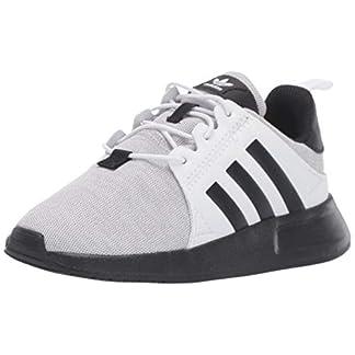 adidas Originals Baby X_PLR EL Running Shoe, Light Grey Heather/Black/White, 5.5K M US Toddler