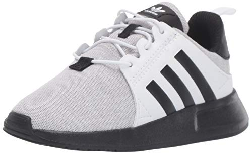 adidas Originals Unisex X_PLR Running Shoe, Light Grey Heather/Black/White, 1.5 M US Little Kid
