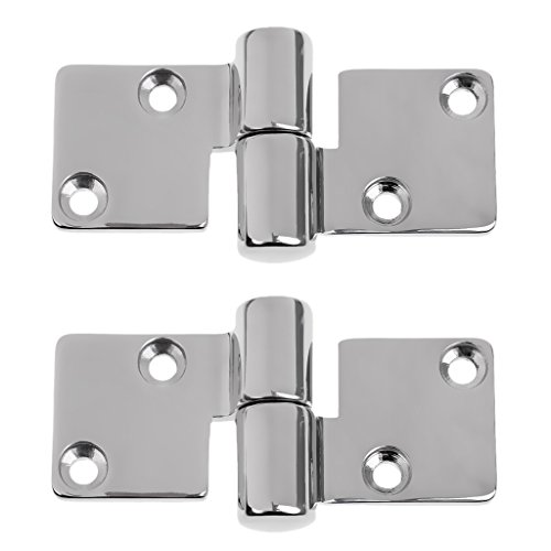 MonkeyJack 2 Pieces Marine 316 Grade Stainless Steel Boat Lift-off/ Take-Apart Hinge 90 x 38 mm - Right by MonkeyJack