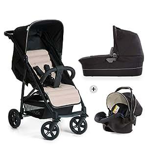 Hauck Rapid 4 Plus Trio Set - 3 en 1 carrito de bebe, Grupo 0+ adaptable a isofix, capazo, respaldo reclinable, de 0 meses a 25 kg, manillar ajustable ...