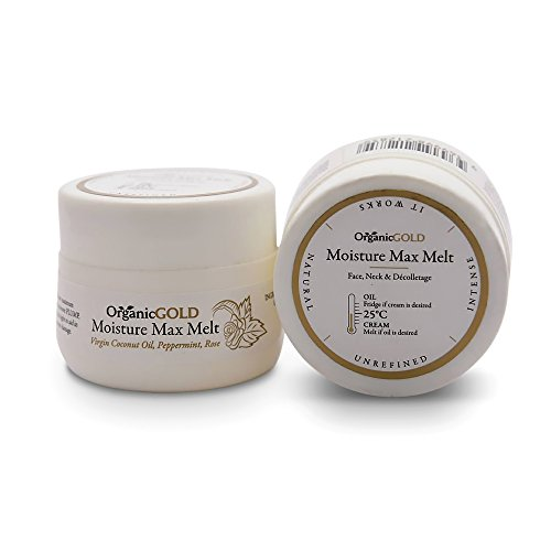 Anti Aging Daily Facial Moisturizer for Women & Men - Day & Night Cream - Dry, Sensitive Skin, Uneven Tone, Age Spots - Face, Neck - Natural & Organic Moisturizing Coconut, Rose, Peppermint Oil ()