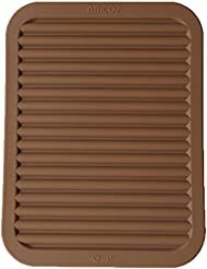 """9"""" x 12"""" Silicone Pot Holder, Trivet Mat, Baking Gadget Kitchen Table Mat, Silicone Drying Mat, Draining Board - Waterproof, Heat Insulation, Non-Slip,Trivet, Tableware Pad Coasters (Coffee)"""