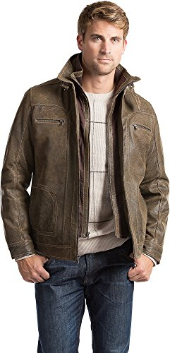Mens Lamb Jacket (Memphis Lambskin Leather Bomber Jacket)
