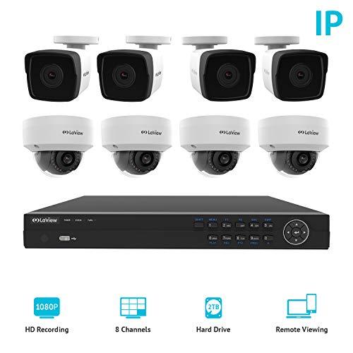 Laview 1080P de 8canales sistema de seguridad para el hogar con 4MP1080p cámaras de bala, 2TB Almacenamiento–al...