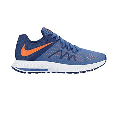 NIKE Mens Zoom Winflo 3 Running Shoe Fountain Blue/Total Orange t2YJTnaB4