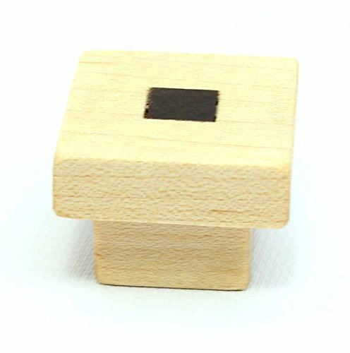 Maple and Walnut Wood Craftsman Cabinet Knob