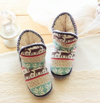 on Winter Home slip Plush Bedroom Boots Cute Deer Fleece Womens Ladies Mules Girls Warm Cute Shoes Cartoon Slip Ankle Booties Cozy Non Indoor Soft Slippers awa8ACHq