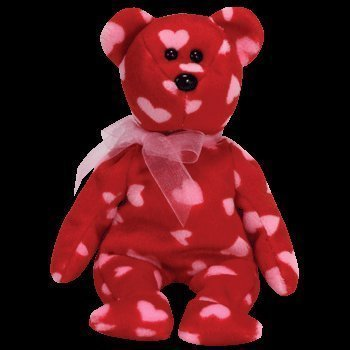 TY Beanie Baby - LITTLE KISS the Bear (Hallmark Gold Crown Exclusive) from Beanie Babies