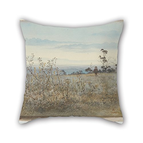 christmas-gift Oil Painting Emma Minnie Boyd - (The Quail Shooter) Pillowcase Best for Wife Husband Home Office Kids Boys Bedding Gf 16 X 16 Inches / 40 by 40 cm(Twin Sides)
