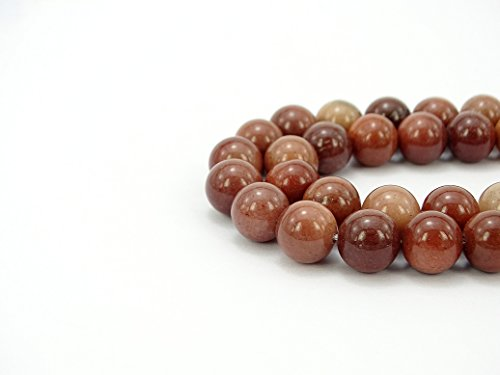 jennysun2010 Natural African Blood Jasper Gemstone 8mm Smooth Round Loose 50pcs Beads 1 Strand for Bracelet Necklace Earrings Jewelry Making Crafts Design Healing