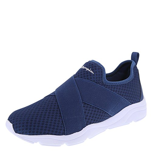 Champion Women's Blue Mesh Rival Slip-on 6.5 Regular (Champion Flats)