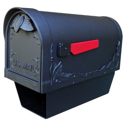 Floral Curbside Mailbox w Paper Tube (Verde - Mount Outdoor Verde Post Copper