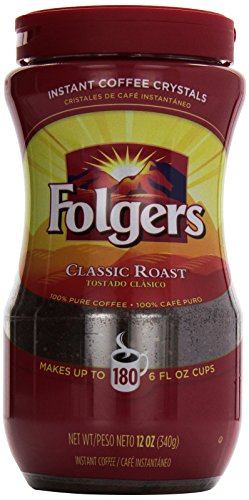 Folgers Instant Crystals, 12 oz