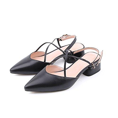Antideslizantes Frescas de Aire Medio Moda de Tacón al Zapatillas Negro Tamaño de Opcionales Sandalias Deporte Femenina Opcional Boda de Zapatos Verano CAICOLOR Colores de Libre 2 wZ8YqU