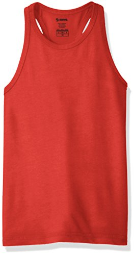 Soffe Girls' Big Core Tank, Red, -
