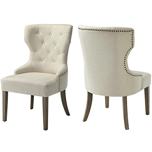 - A Line Furniture Vintage 18th Century French Neoclassic Design Dining Chair with Button Tufting and Nailhead Trim