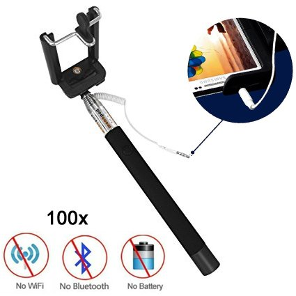 100pcs Bulk Sales No Battery No Bluetooth No Wifi Portable Foldable Extendable Durable Universal Selfie stick Adjustable Phone Holder Mount Stand for IOS Android Smartphones Apple iPhone 6 Plus Promo by Generic (Image #7)