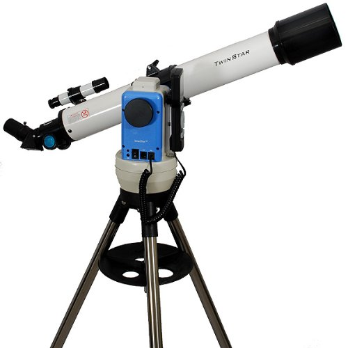 TwinStar White 70mm iOptron Computerized GPS Refractor Telescope