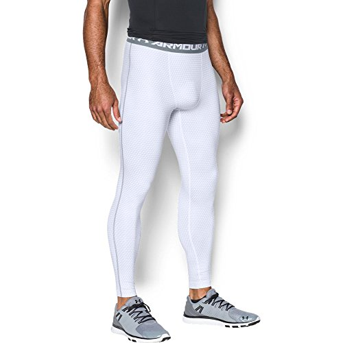 Under Armour Men's HeatGear Armour Printed Compression Leggings, White (102), Small -
