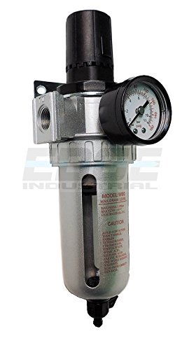 IN-LINE COMPRESSED AIR FILTER REGULATOR COMBO PIGGYBACK, 1/2