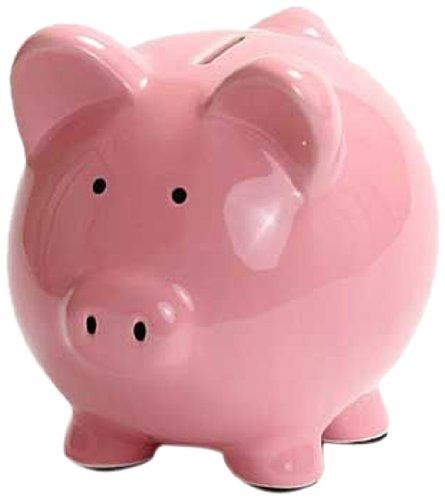 Kangaroo 1003 Ceramic Piggy Bank 6 Inch Pink Shopping