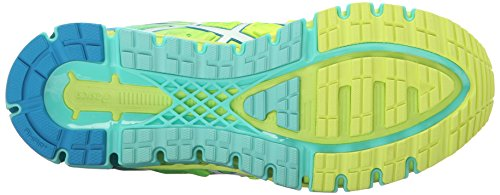 ASICS Women's Gel-Quantum 180 2 running Shoe, Safety Yellow/White/Blue Jewel, 8.5 M US by ASICS (Image #3)