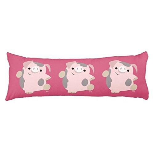 Cute Cartoon Dancing Pig Body Pillowcase ()