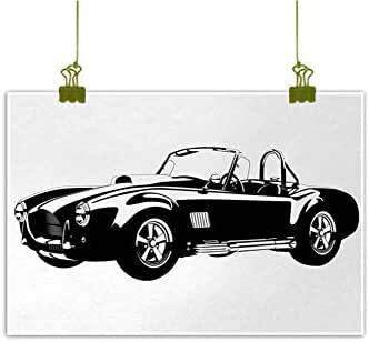 Mannwarehouse Cars Living Room Decorative Painting American Authentic Aged Vehicle with Stylized Wealth Properties Engine Icon Print Modern Minimalist Atmosphere 24