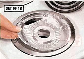 Amazon Com Disposable Foil Burner Liners Electric