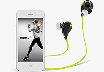 MegaTek® QCY QY7 Auriculares inalámbrico deporte bluetooth Auriculares estéreo de Bluetooth 4.1 con micrófono Verde: Amazon.es: Electrónica