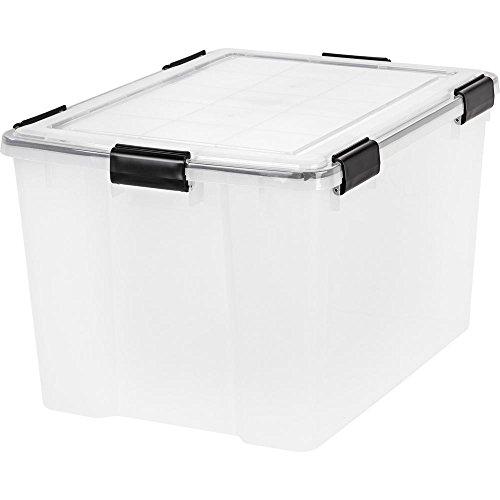 IRIS 74 Quart WEATHERTIGHT Storage Box, Clear, pack of 4 by IRIS USA, Inc.