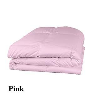 Ropa de cama muy suave Dreamz 250 hilos 100% algodón 1 pc funda para edredón y almohada/de funda de edredón (200 Gsm de fibra) de largo, de color rosa de percal de algodón egipcio 250TC diseño floral a