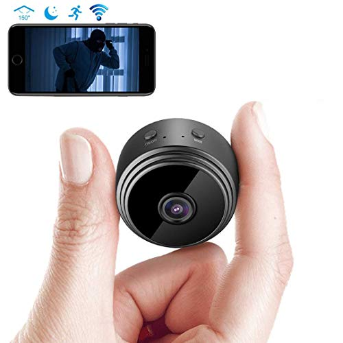(WiFi Hidden Camera-Night Vision 5 Yards HD 1080p Remote Cam Mini Spy Camera with Motion Detection in All Scenes View by Android/iPhone)