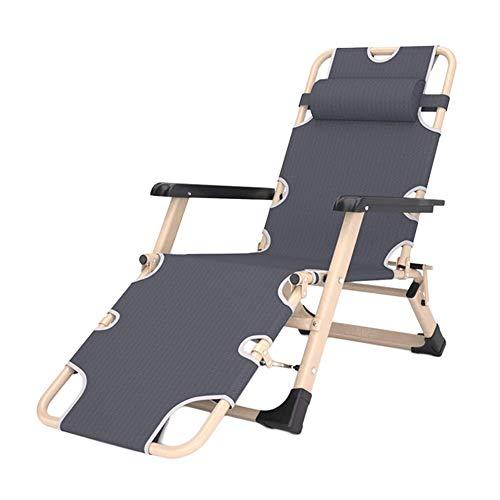 MJY Sillas de salon para exteriores Heavy Duty Patio Zero Gravity, sillas de playa reclinables plegables ajustables de gran tamano para jardin, soporte 200 kg Oficina/A