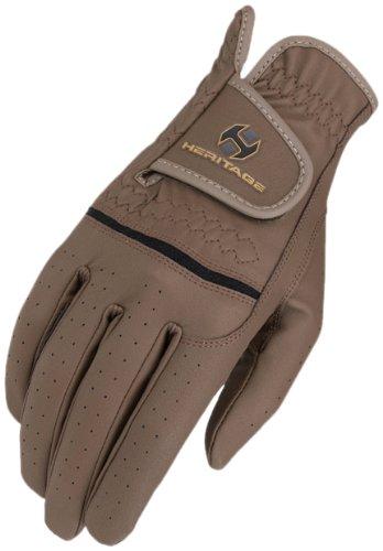 Heritage Premier Show Gloves, Size 8, Brown (Brown Unisex Glove)