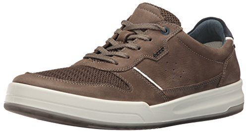 ECCO Men's Jack Summer Fashion Sneaker, Tarmac/Tarmac, 42 EU/8-8.5 M US by ECCO