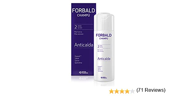 FORBALD – Champú anticaída cabello con vitaminas. Doble acción: fuerza y volumen del pelo. Estimula el crecimiento del cabello – 250 ml: Amazon.es: Salud y cuidado personal